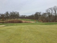 Hole 3 green view.