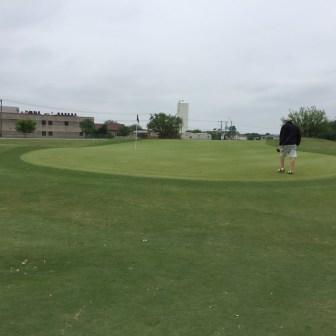 Green on 2nd hole.
