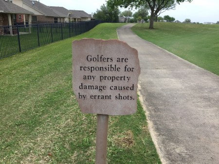Property damage warning