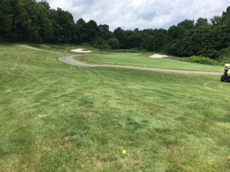 Approach shot to 1st hole of Fairways course.