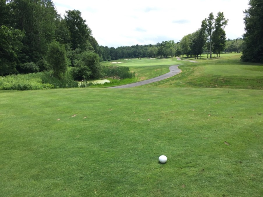 Fairway 3rd hole slopes to left so hit it down the right.