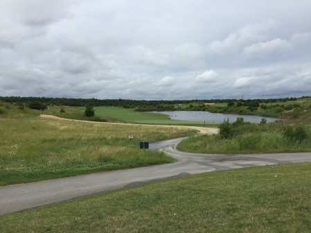 View from clubhouse to 9th green and 10th fairway in distance.