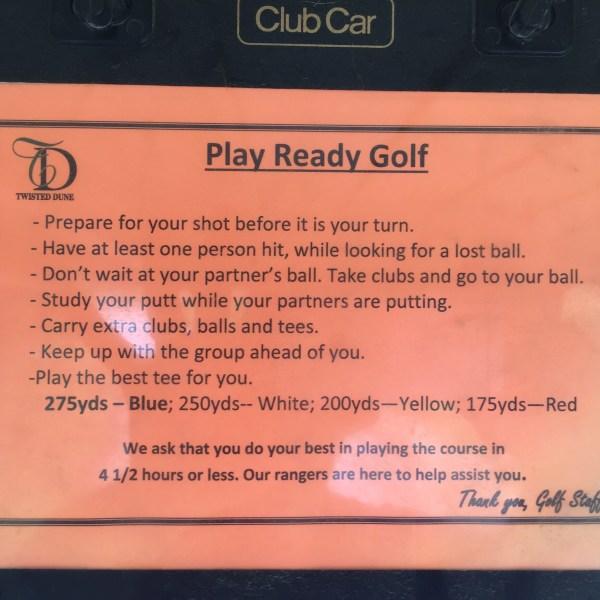 Ready Golf Ettiquette