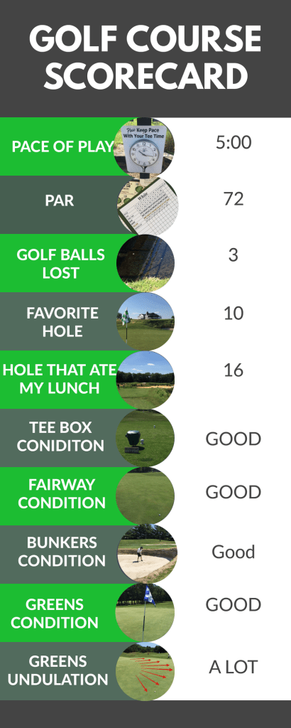 Golf Course Scorecard - Scotland Run