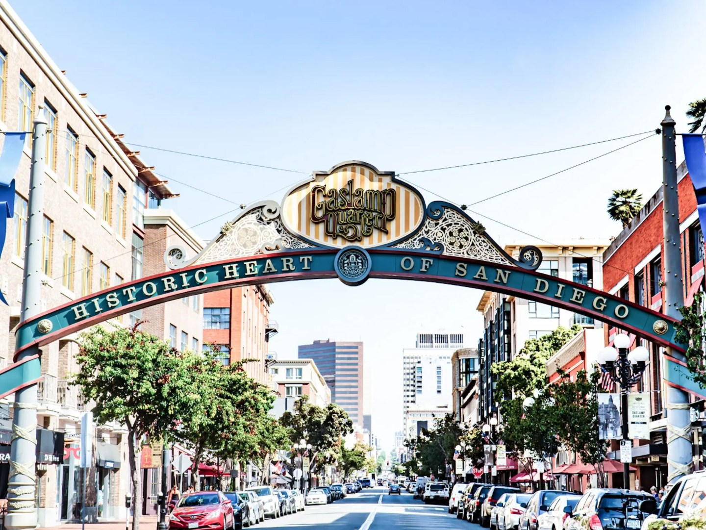 Your road trip to southern California should not end without a night im San Diego's Gaslamp Quarter.