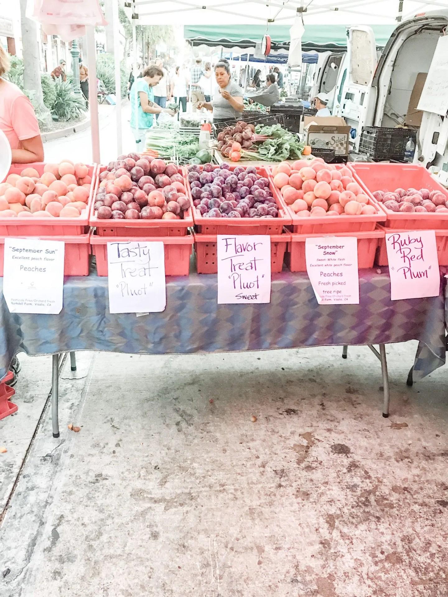 Farmer's Market on State Street in Santa Barbara
