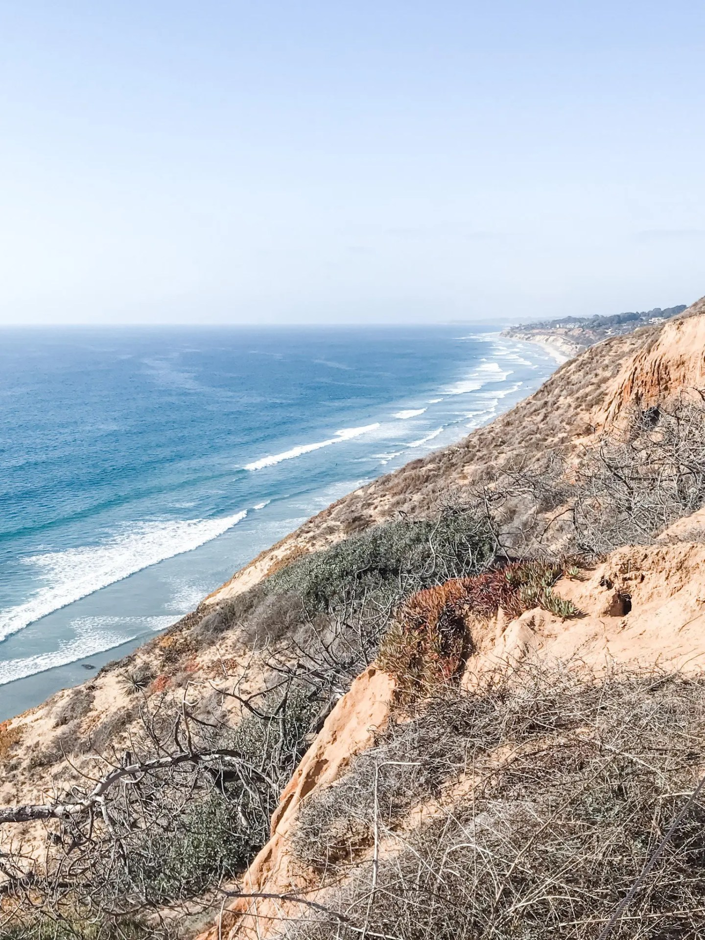 California Road Trip to San Diego. View from a hike within the Torrey Pines State Reserve, San Diego.