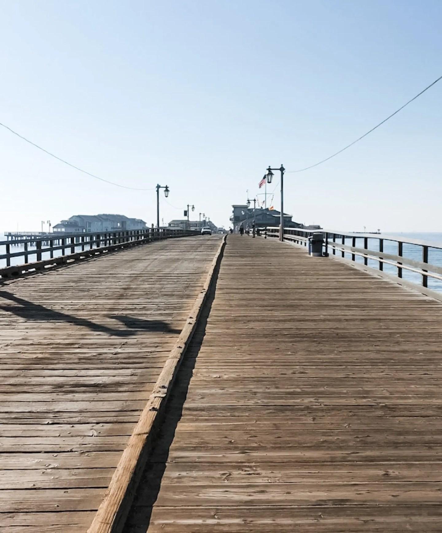 Our road trip to Santa Barbara led us here - the bridge to Stearn's Wharf.