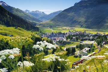 Andermatt Swiss Alps Valley