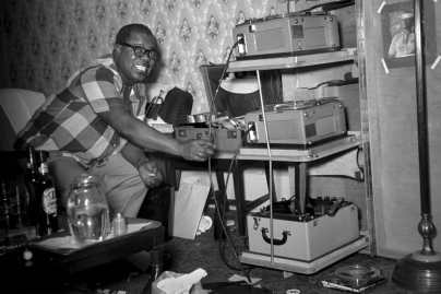 Louis Armstong's hotel recording rig.