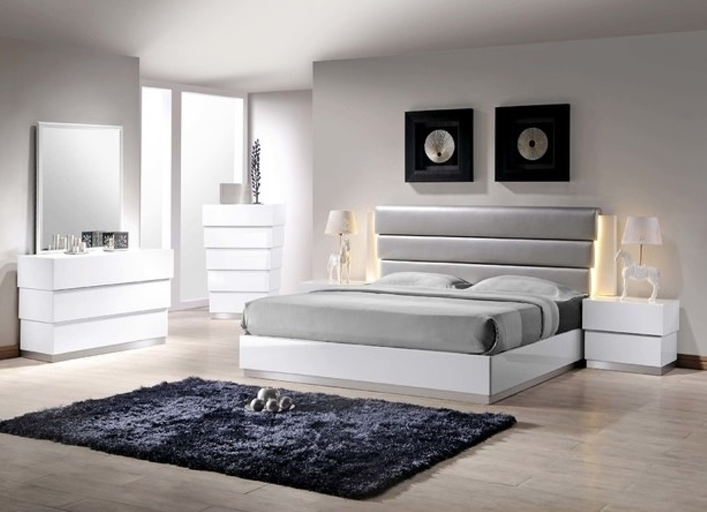 Florence White Lacquer Bedroom Set  Casye FurnitureCasye Furniture