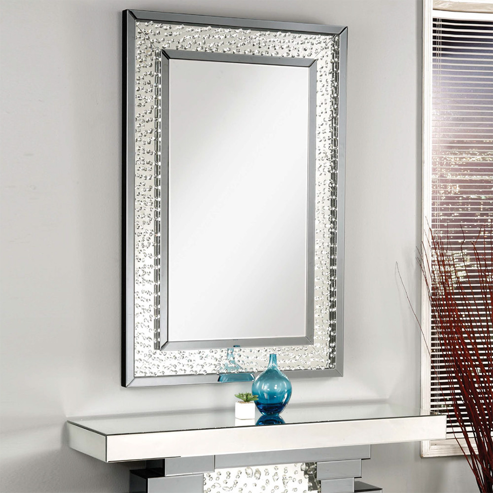 Nysa Mirrored Console Table  Accent Mirror  Casye Furniture