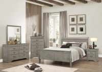 Louis Phillip Collection Bedroom Set, Gray Finish B3550 ...