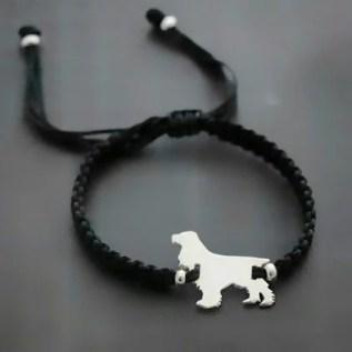 joyeria pulsera de plata 950 en forma de cocker perro petlover en lima peru