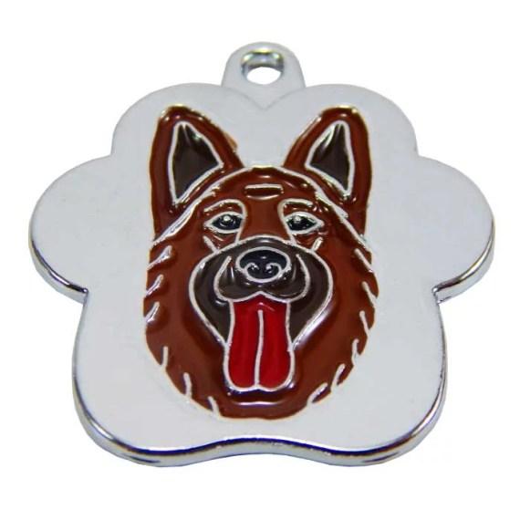 placas de identificacion para perros pastor