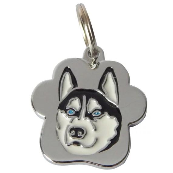 placa de identificacion para perros grabado peru lima husky siberiano
