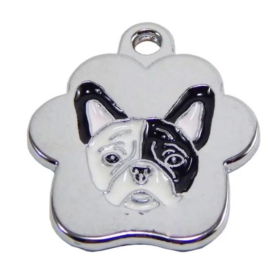 placa de identificacion para perros bulldog grabado peru