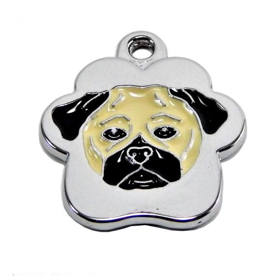 placa de identificacion para perros pug eru lima