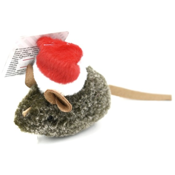 juguete para gatos en forma de raton papa noel por navidaden lima peru