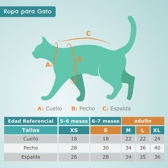tallas ropa para gatos peru