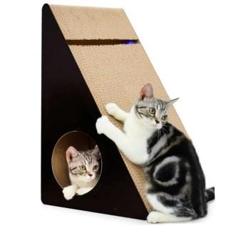 rascador para gatos de carton grande triangulo kong en miraflores lima peru