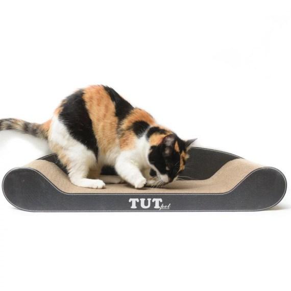 cama rascador para gatos de carton con catnip en miraflores surco lima peru