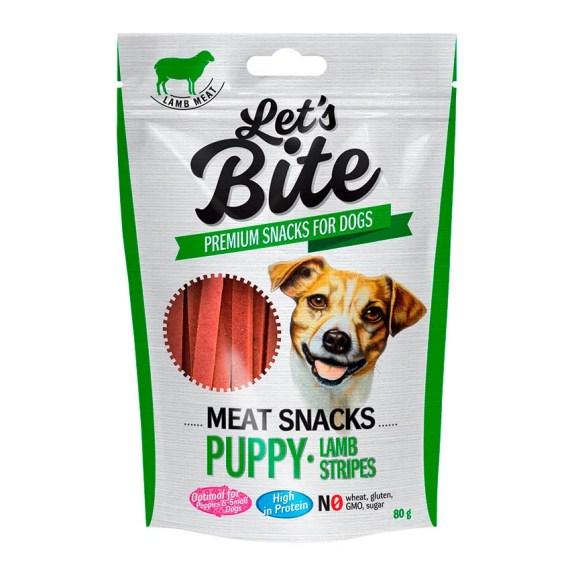 let's bite meat snacks puppy lamb stripes premios para perros en miraflores surco lima peru