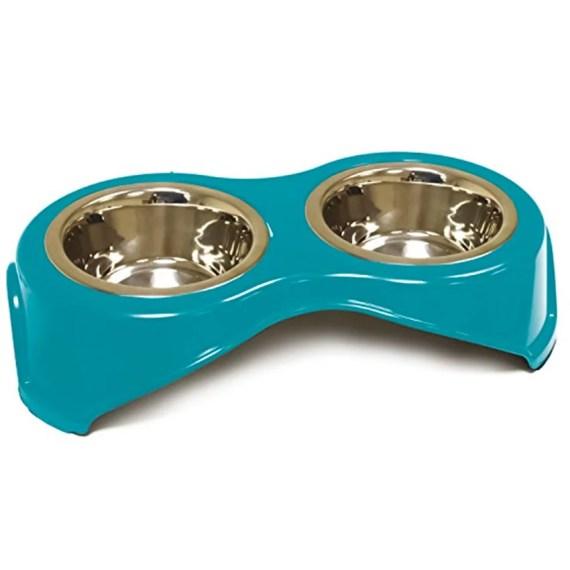 plato para mascotas perros gatos doble de acero C6059522 croci en lima peru