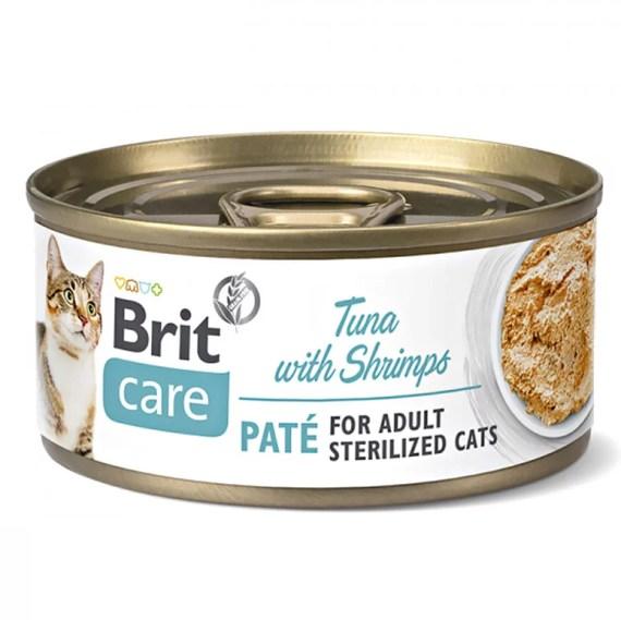 comida humeda gatos brit care pate tuna with shrimps atun con langostinos en lima peru