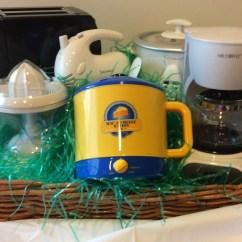 Small Kitchen Appliances Yellow Pine Cabinets Appliance Basket