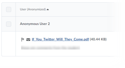 Example of Anonymized Users