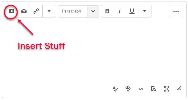 insert stuff icon on HTML Editor toolbar