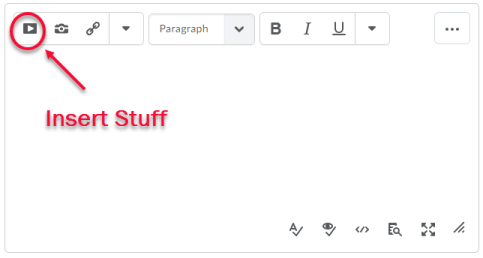 insert stuff icon shown on HTML Editor toolbar