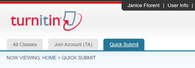 Turnitin - Quick Submit