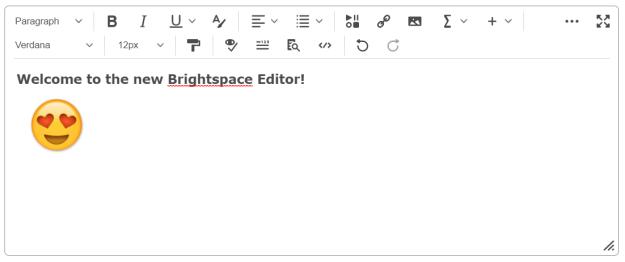Brightspace Editor