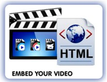 image showing Embed Video using HTML code