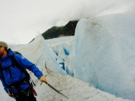 Hiking on top of the Glacier itself.