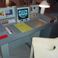 Computer Desk And Chair Set Red Outdoor Cushions Space 1999 Command Center Replica