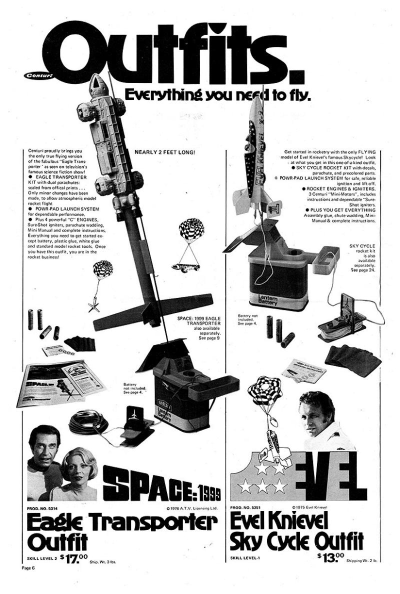 Space 1999 Centuri Flying Rocket Eagle
