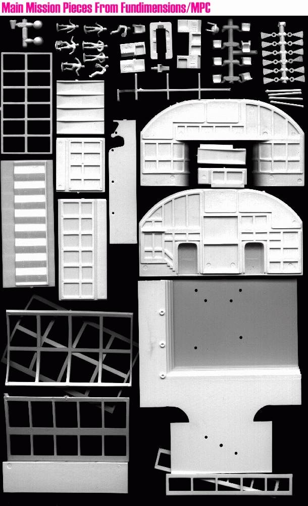 Modellino della base lunare Alfa di Spazio 1999
