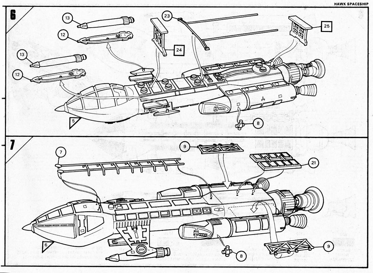 Space 1999 Merchandise Guide: Hawk kits