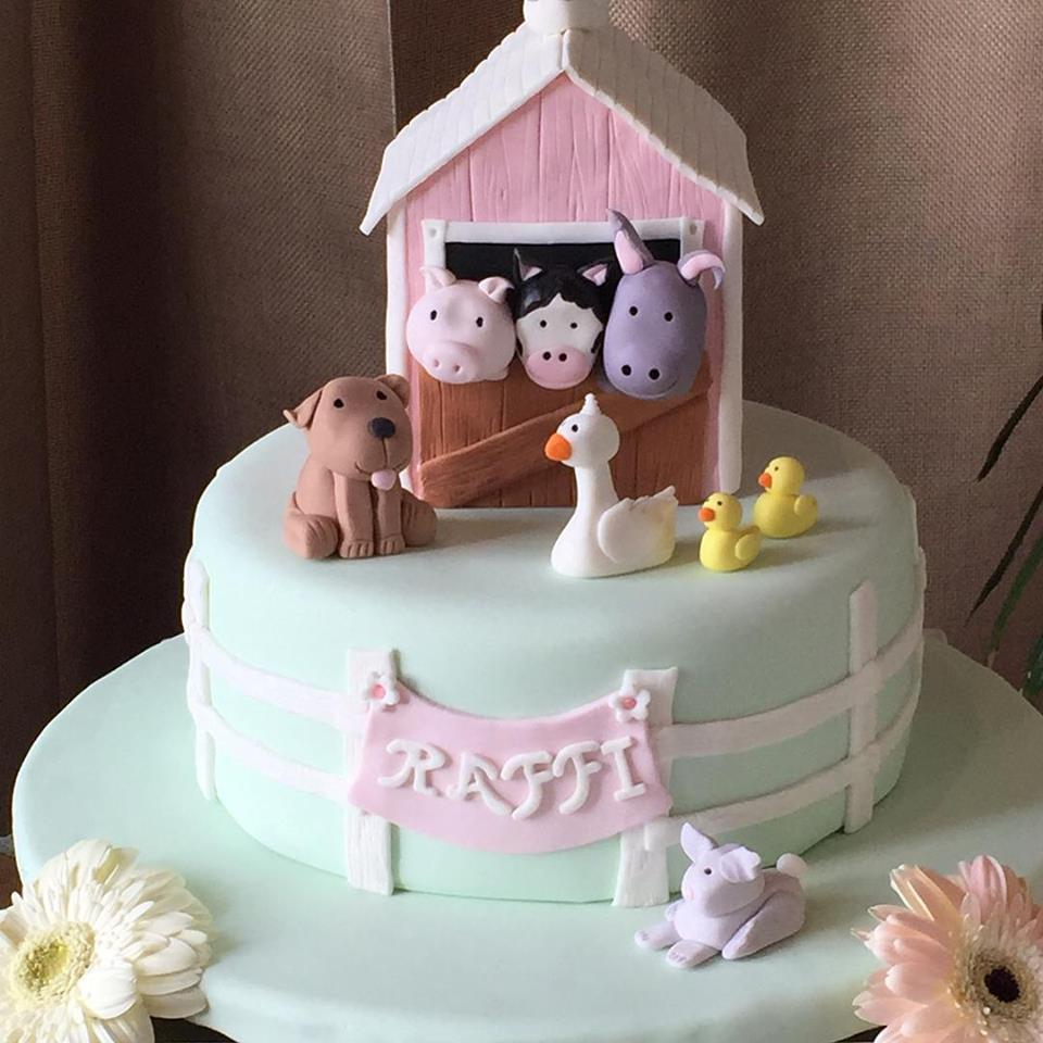 Birthday Cake for a Farm Birthday Theme by Catalinas Bake Shop