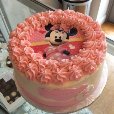 Birthday Cake for a Minnie Birthday Theme