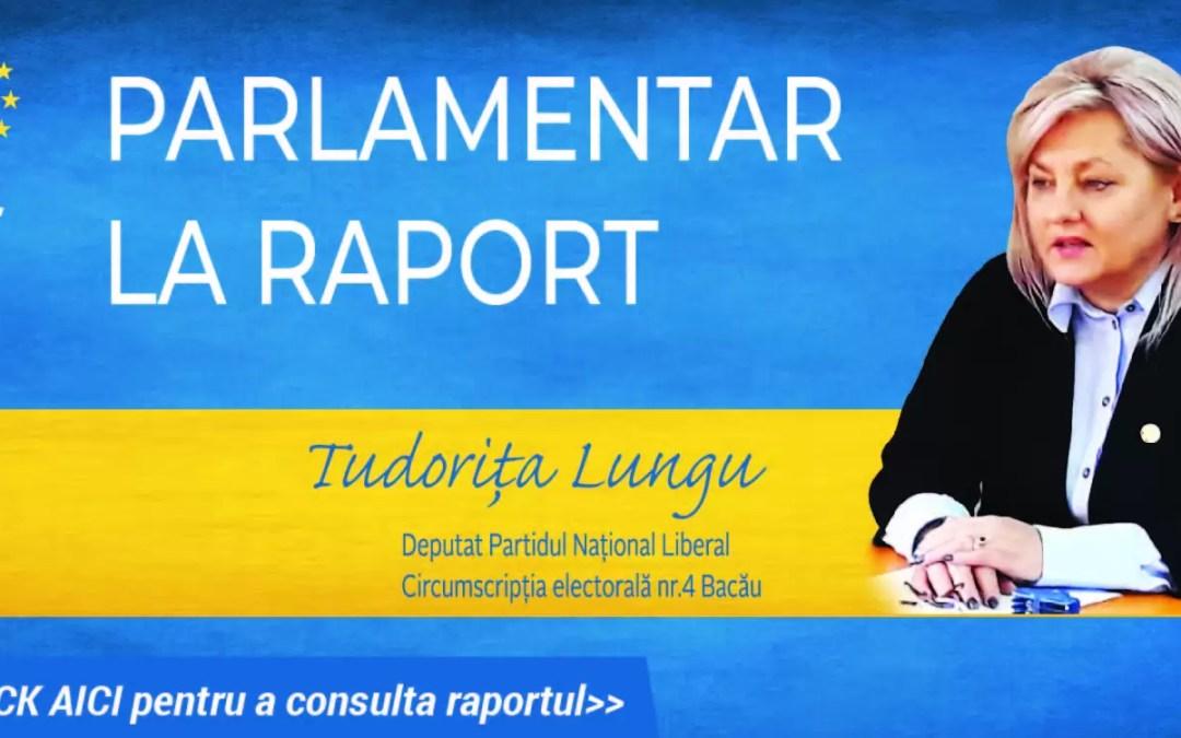 Tudorița Lungu și-a publicat raportul de parlamentar la jumătatea mandatului