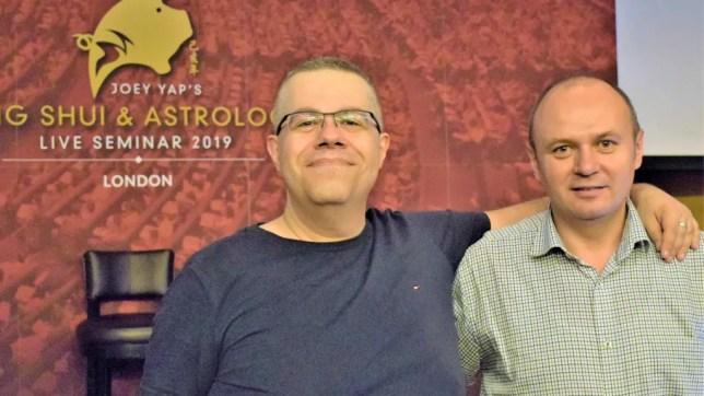Cătălin Vasiloiu alături de maestrul Risvan Vlad Rusu - Londra 2018