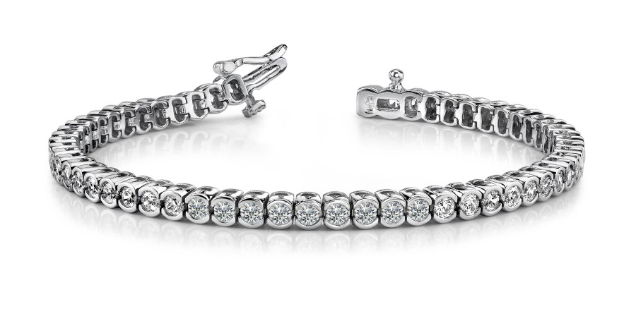 B117 Half bezel channel set bracelet