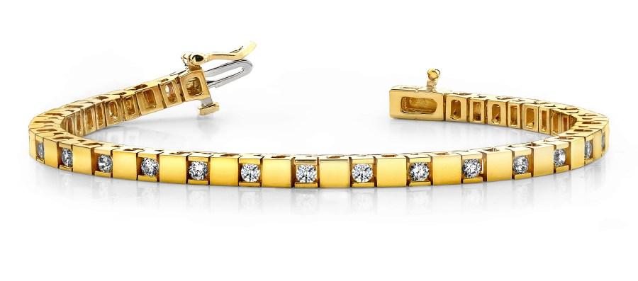 B130-B Shiny Block and Princess or Round Diamond