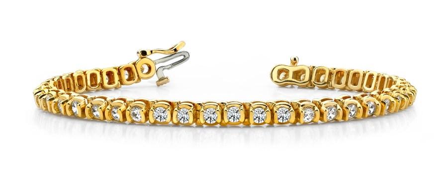 B143 Half Bezel Diamond Bracelet