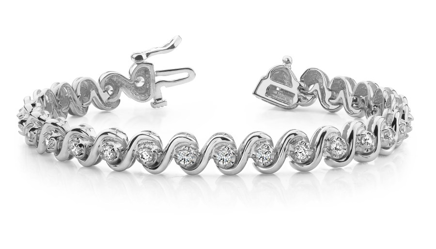 "B152 ""S"" Style Diamond Bracelet"
