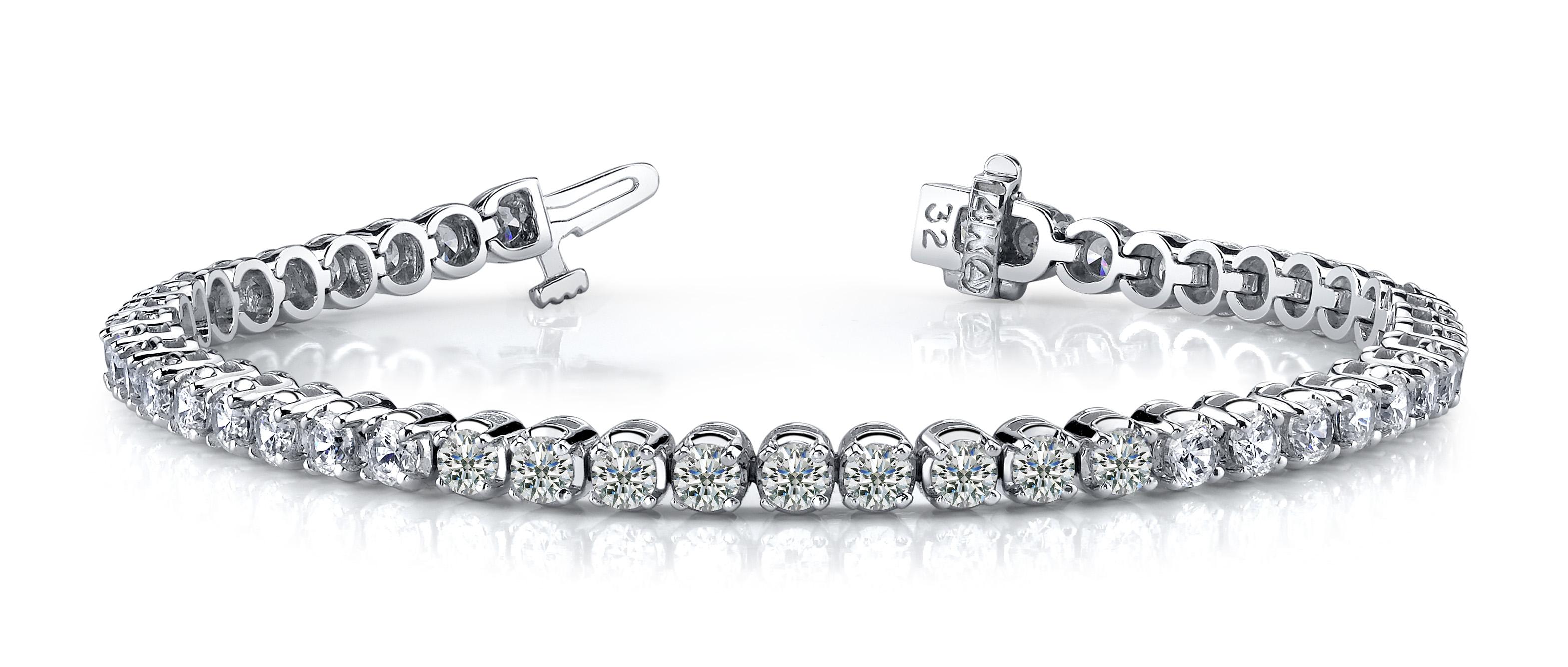 Sb871 Round Setting 4 Prong Diamond Bracelet